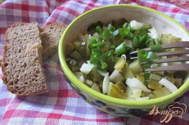 Рецепт Cалат консервированные огурцы с луком