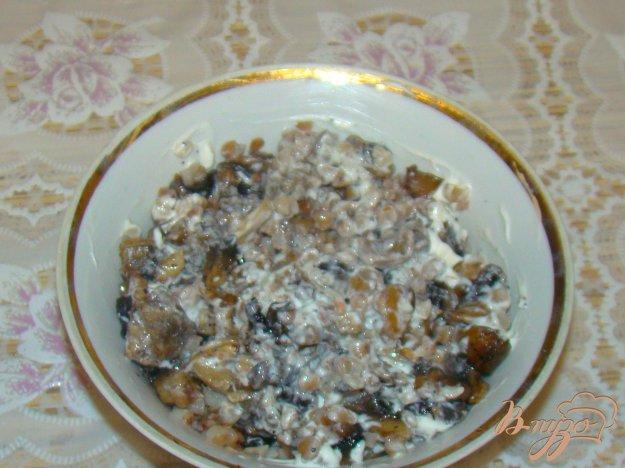 Рецепт Гречка с грибами и сметанной