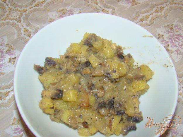 Рецепт Быстрый картофель с грибами