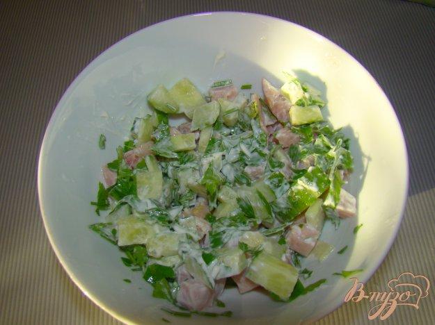 Рецепт Ветчино-огуречный салат