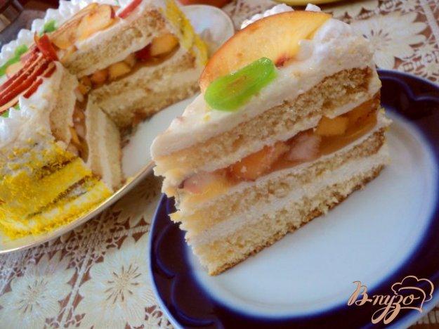 Бісквітно-фруктовий торт. Як приготувати з фото