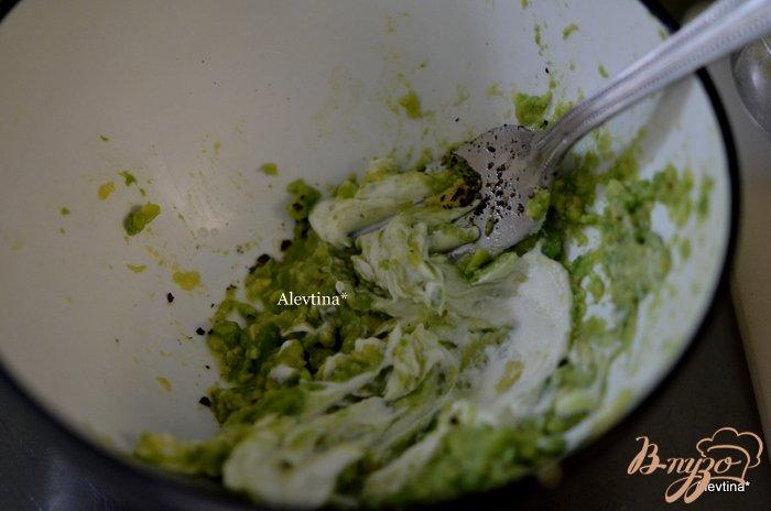 Фото приготовление рецепта: Семга с авокадо дип шаг №2