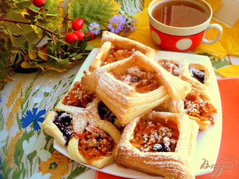 Фото приготовление рецепта: Слоеные пирожки с тыквой шаг №6