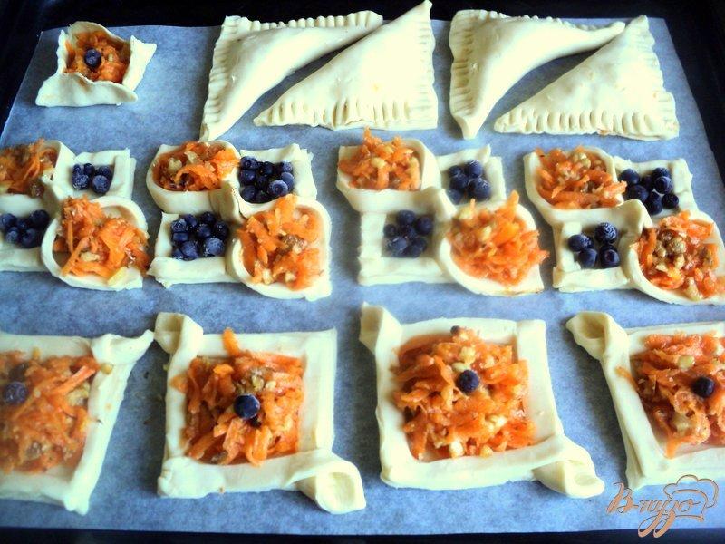 Фото приготовление рецепта: Слоеные пирожки с тыквой шаг №5