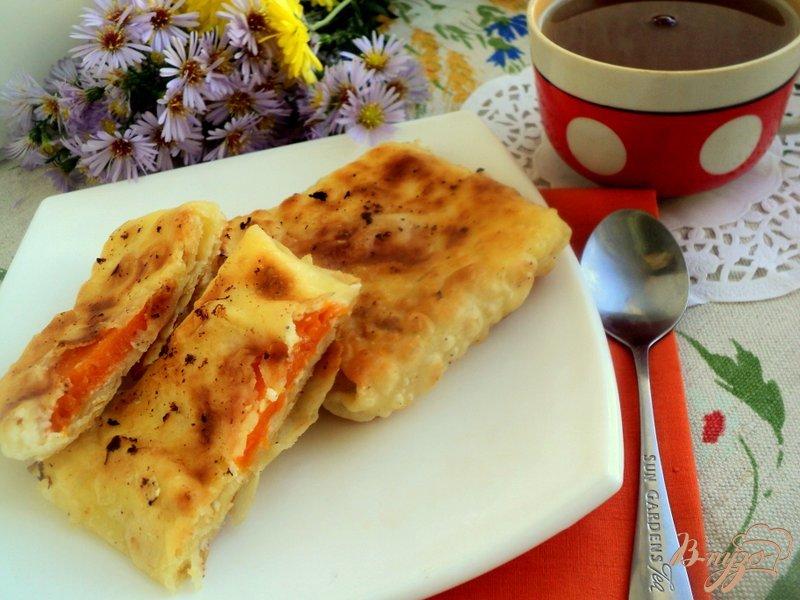 Фото приготовление рецепта: Конвертики из лаваша с творогом и тыквой шаг №7