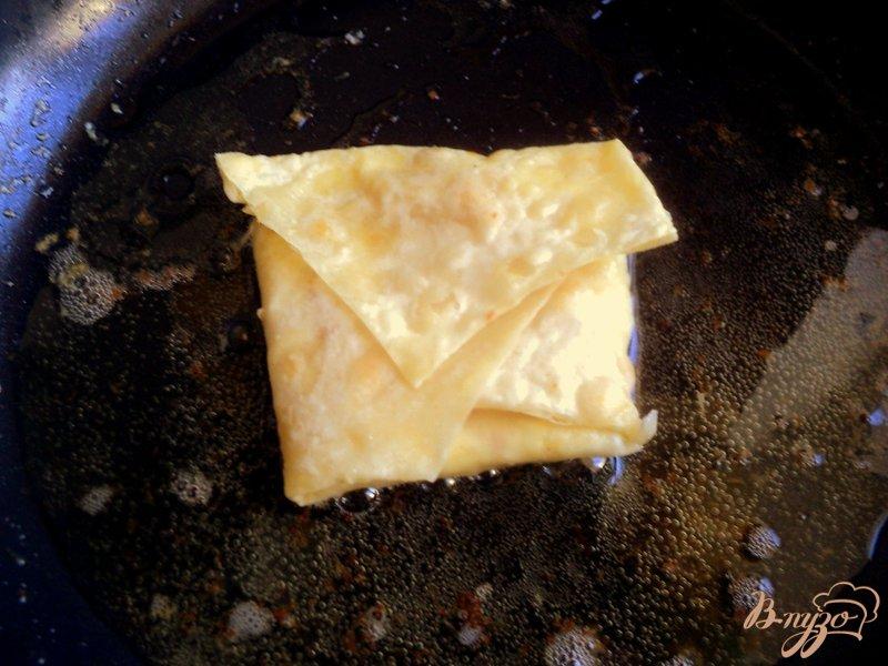 Фото приготовление рецепта: Конвертики из лаваша с творогом и тыквой шаг №6