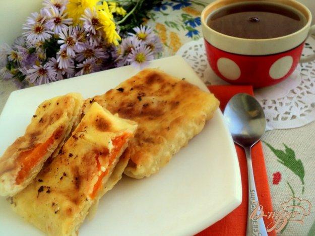 фото рецепта: Конвертики из лаваша с творогом и тыквой