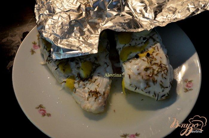 Фото приготовление рецепта: Палтус в лимонно-тимьянном бульоне шаг №2