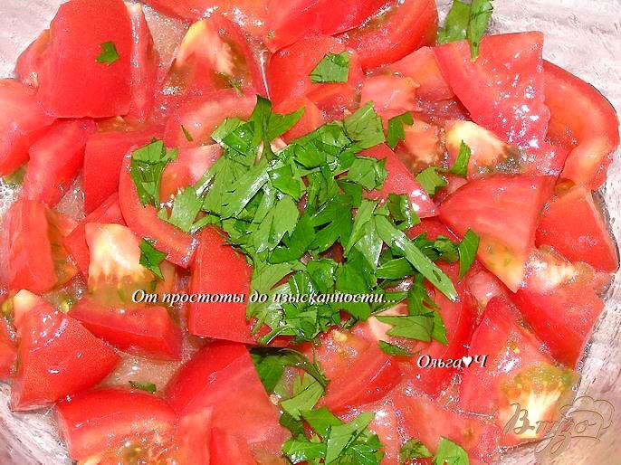 Фото приготовление рецепта: Салат с помидорами и кунжутом шаг №1