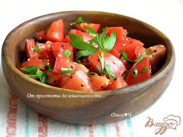 Рецепт Салат с помидорами и кунжутом