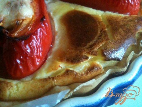 Открытый пирог с фаршированными перцами