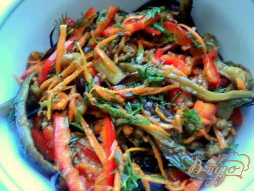 Пикантный салат из баклажанов по-корейски