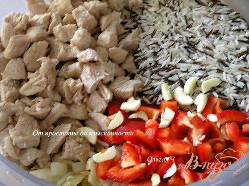 Индейка с рисом и сладким перцем