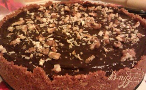 Ореховый чизкейк с шоколадным ганашем