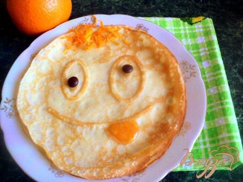 Веселые апельсиновые блины