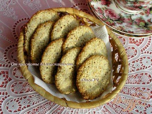 Хрустящее кунжутное печенье