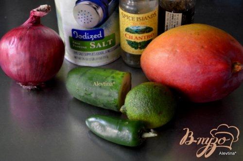 Семга с манговой сальсой