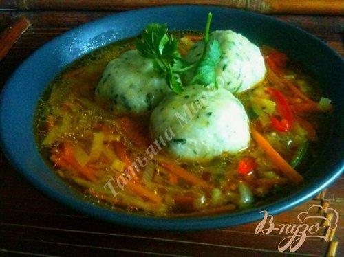 Овощной суп с картофельными галушками