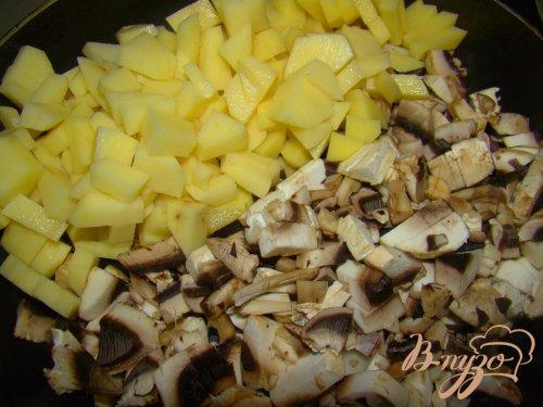 Быстрый картофель с грибами