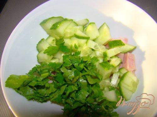 Ветчино-огуречный салат