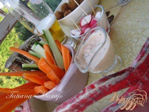 Быстрый соус к овощной закусочке..