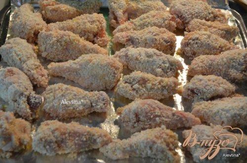 Хрустящие куриные крылышки в кунжутном семени