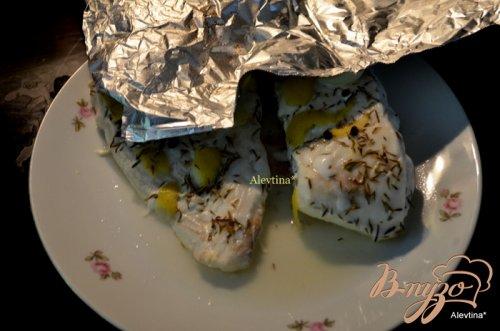 Палтус в лимонно-тимьянном бульоне