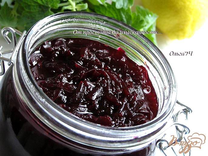 Фото приготовление рецепта: Конфитюр из свеклы с лимоном и мятой шаг №5