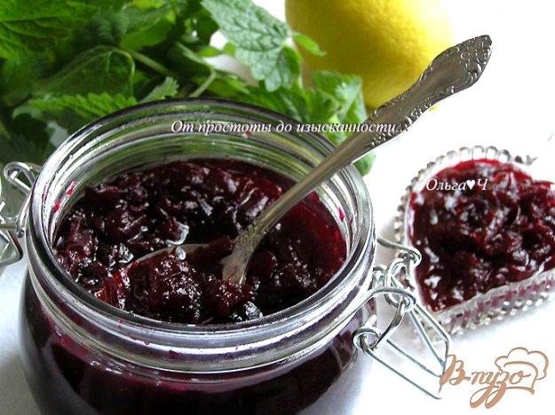 фото рецепта: Конфитюр из свеклы с лимоном и мятой