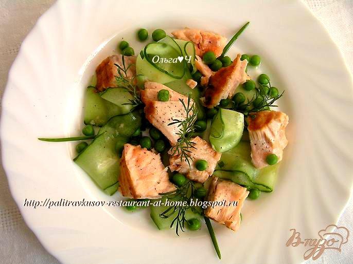 Фото приготовление рецепта: Салат из лосося с лаймом и имбирем шаг №6