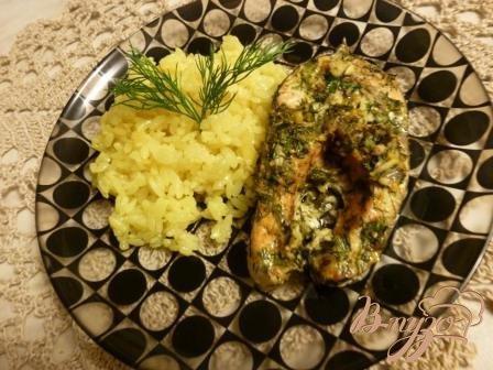 фото рецепта: Рис с чесноком, луком и имбирем