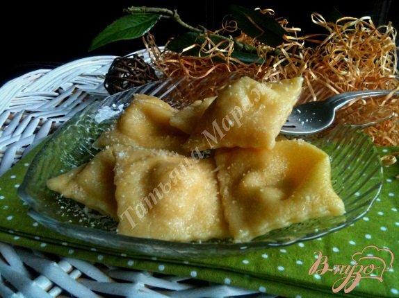 фото рецепта: Равиоли с копченой рыбой и сыром