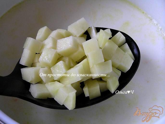 Фото приготовление рецепта: Молочно-овощной суп шаг №3