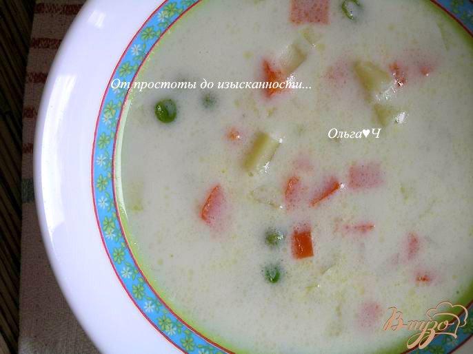 Фото приготовление рецепта: Молочно-овощной суп шаг №6