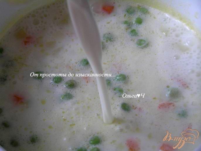 Фото приготовление рецепта: Молочно-овощной суп шаг №5