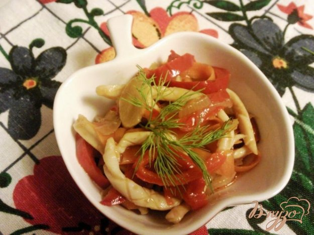 Рецепт Кальмары с овощами по-корейски