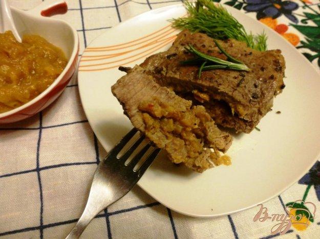 Рецепт Запеченная телятина с яблочным чатни