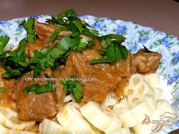Рецепт Говядина в томатном соусе (в мультиварке)