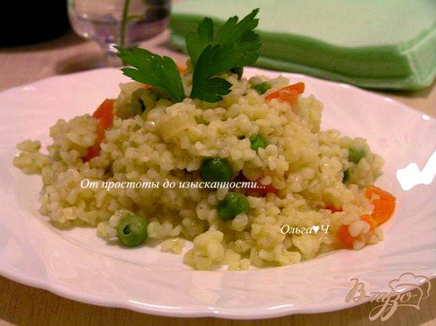 Рецепт Булгур с морковью и зеленым горошком