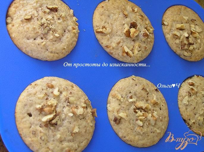 Фото приготовление рецепта: Ореховые кексы шаг №5