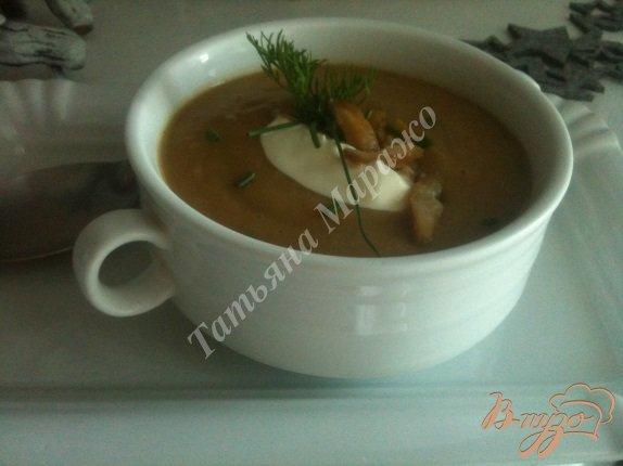фото рецепта: Крем-суп из каштанов и гусиной печени