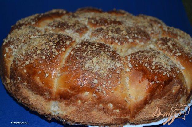 Рецепт Йогуртовые булочки с творожной массой и карамельно-ореховой корочкой