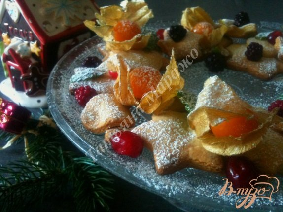 Рецепт Рождественский веночек к чаю