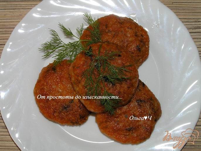 Фото приготовление рецепта: Томатно-рисовые котлетки шаг №5