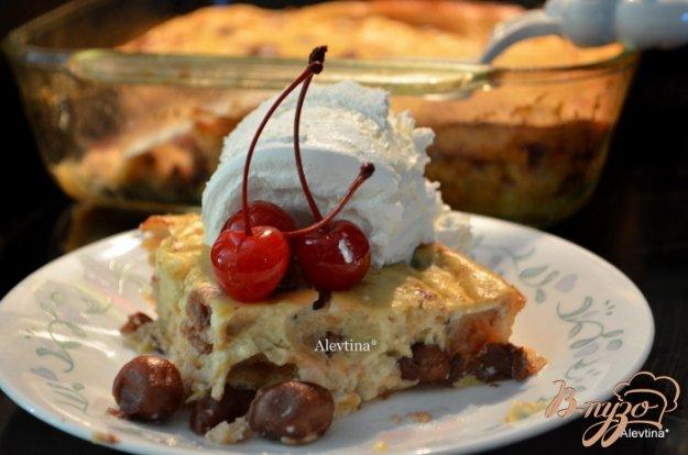 Рецепт Вишневый хлебный пудинг