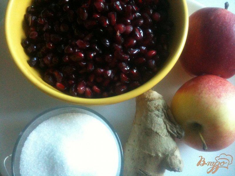 Фото приготовление рецепта: Компот яблочно-гранатовый с имбирем шаг №1