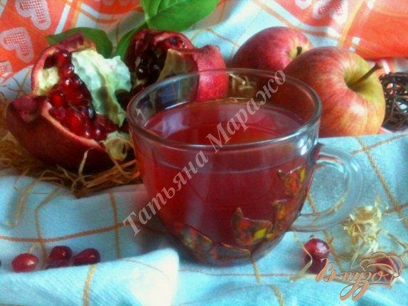 Рецепт Компот яблочно-гранатовый с имбирем