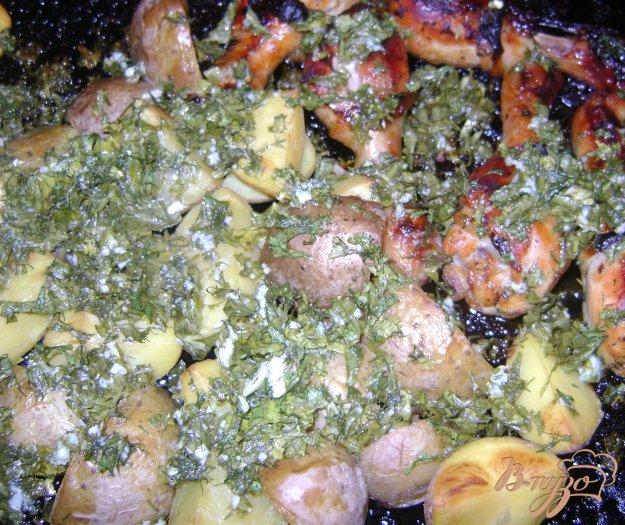 Рецепт Куриные голени с картошкой в духовке