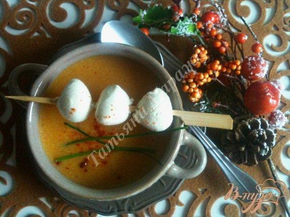 фото рецепта: Тыквенный суп с моцареллой