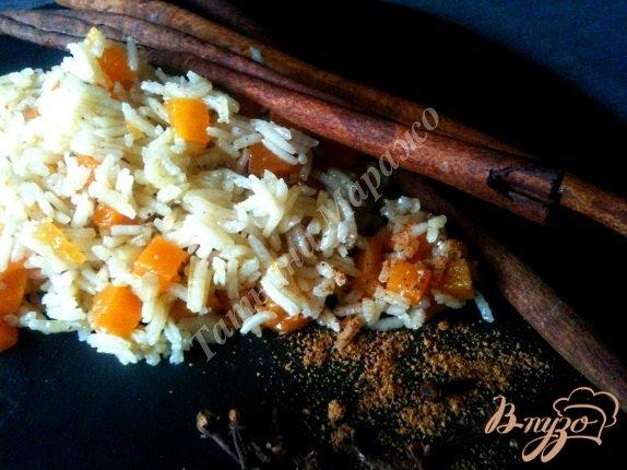 Рецепт Пряный рис с тыквой